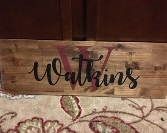 16x36 wooden name sign
