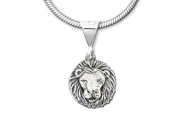 Sterling Silver Lion  Pendant