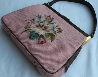 Vintage TAPESTRY BAG.Stunning Item.So UNIQUE Fab Condition Valentines Gift