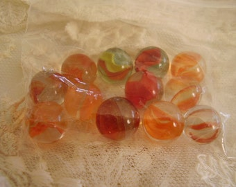 Vintage glass cat eye marbles