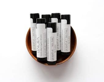 Organic Lip Butter | Grapefruit + Tea Tree | Handmade | .15 oz tube | Gift for Her