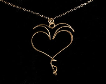 Love, Light & Laughter Pendant, gold filled, rose gold, sterling silver, niobium