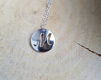Letter M Silver Necklace Pendant Name Jewellery Letter M Initial