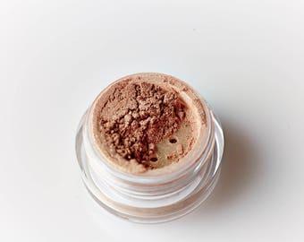 Cinnamon Sugar . Sparkle Mineral Eyeshadow . Eyes . Bridal . Neutral . Pink . Brown . Shimmer . Loose Mineral Makeup . Goddess . Teens .