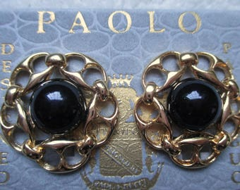Vintage PAOLO GUCCI Clip on Earrings.