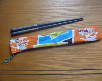 cartoon themed chopstick bag, ecofriendly multicoloured chopstick bag