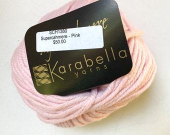 50% Off Cashmere Karabella Yarn Pink Bulky 50 Grams 81 Yards