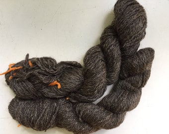 5 oz Handspun Hand Dyed Wool Sport DK Natural Grey 2 Ply Yarn 297 Yards