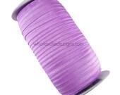 "Lilac FOE - Fold Over Elastic - 5/8"" Foe Headbands - Hair Ties - Solid Shiny Satin Elastic"