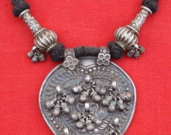 Tribal Gipsy Silver Necklace Pendant Bellydance Gothic