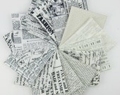Text in Black and White Fat Quarter Bundle - 14 Fat Quarters - 3.5 Yards Total
