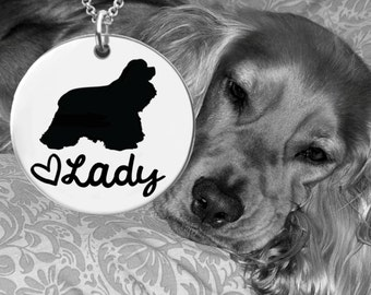 Cocker Spaniel Necklace   Cocker Spaniel Jewelry   Personalized Dog Necklace   Personalized Gift   Korena Loves