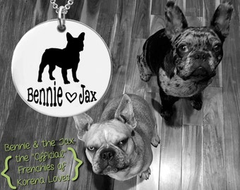 French Bulldog Necklace   French Bulldog Jewelry  Frenchie Gifts   Personalized Dog Necklace   Personalized Gifts   Korena Loves