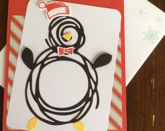 Christmas, Holiday, Penguin, Handmade, stampin up