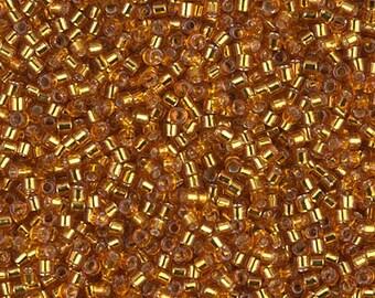 11/0 Miyuki Delica Seed Beads DB1201 - Silver Lined Marigold Delica 1201 - 6 Grams - Delica ...