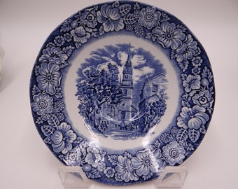 """Vintage Staffordshire England Liberty Saucer """"Old North Church"""" - 3 Available"""