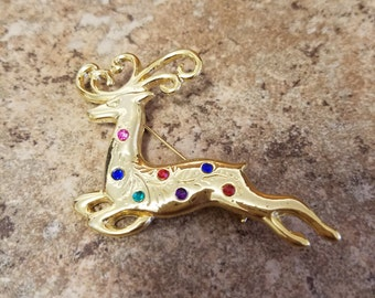 Lovely Holiday Reindeer brooch