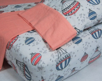 Hot Air Balloon Bedding Set - Nursery Sheet Set