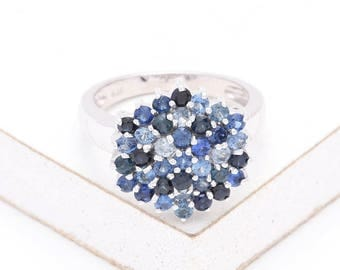 Bonita Blue Sapphire Ring 1.4 CT in 14K Gold, Natural Ethical Gemstone Unusual Jewelry SKU: R1584-BLUE
