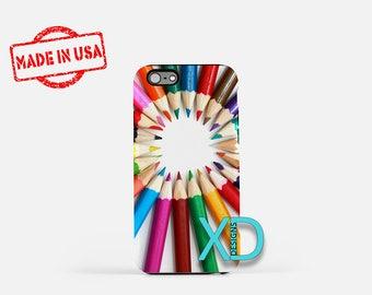 Colored Pencil Art iPhone Case, Colored Pencil Art iPhone 8 Case, iPhone 6s Case, iPhone 7 Case, Phone Case, iPhone X Case, SE Case