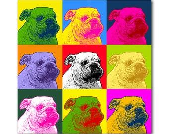 Custom pet portrait - Andy Warhol personalized portrait - Pop Art portrait - digital