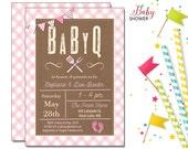 BabyQ Barbeque Invitation | Baby Shower | Printable Digital File | BSI329DIY