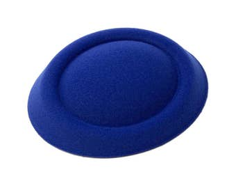 "5"" Blue Oval Pillbox Stewardess Fascinator Millinery Hat Base - Available in 13 Colors"
