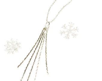 Minimalist  tassel necklace-minimalist jewelry-delicate tassel necklace- gift for her-delicate jewelry