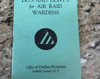 Vintage Do's and Don'ts for Air Raid Wardens