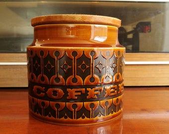 ホーンジー ヘアルーム coffeeキャニスター、ジャー。Hornsea brown Heirloom coffee storage jar