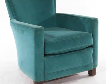 Vintage Art Deco French Club Chair