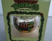 Teenage Mutant Ninja Turtles Merry Christmas Dudes Ornament, 1990 Unbreakable Satin Ornament Mirage Studios