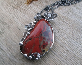 necklace with red jasper
