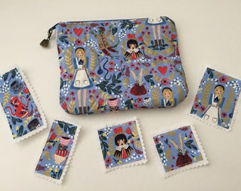 Alice in Wonderland zipper pouch