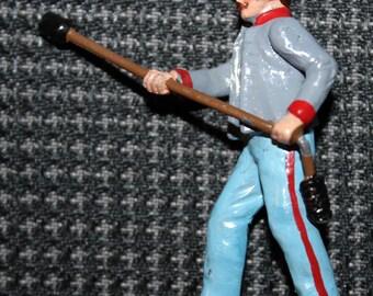 Ron Wall Miniature-Style Civil-War Era Confederate States Army Infantryman - Torch Bearer