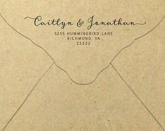 Printable Return Address Label Calligraphic Engagement
