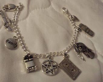 Supernatural inspired 'The Epic Bromance of Dean and Cas' bracelet