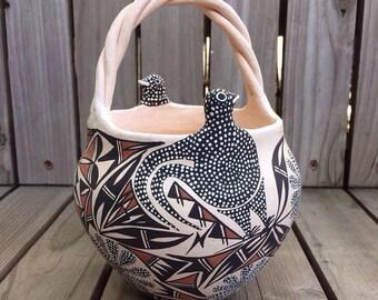 Acoma Pueblo Engagement Basket Pot - Rare Form