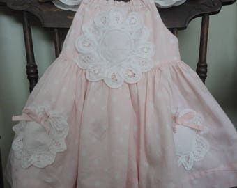 Infant Girl Upcycled Pink Dress -  Atlantic Rock Threads