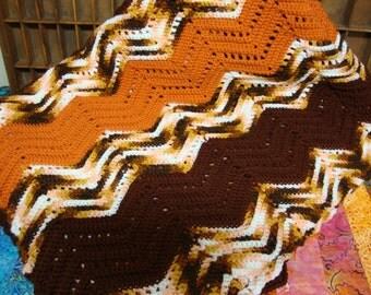 Vintage Chevron Crochet Afghan