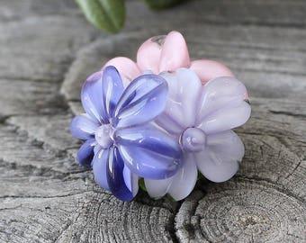 Lampwork Flower Beads, 1 pc Flower Beads, Lampwork Flower, Lampwork Beads, Lampwork Glass Beads, Handmade Lampwork Beads, Lampwork