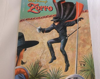Walt Disneys Zorro Childrens TV Edition Whitman Book 1958
