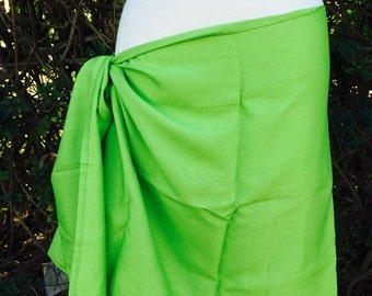 Lime green half size pareu