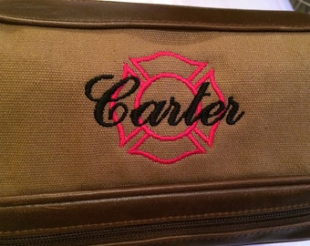 Firefighter or Police (Sherriff) Dopp Kit - Travel Toiletry Bag with Extra Storage
