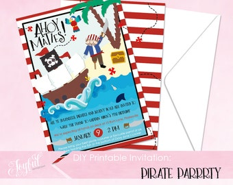 Pirate Birthday Party Printable Invitation