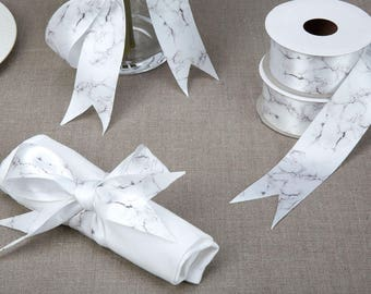 Marble Printed Ribbon for weddings and wrapping