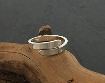Adjustable Secret Heart Ring