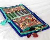 """SALE! 30% off 14 pair capacity Interchangeable knitting needle and crochet hook keeper for needles 3.5"""" to 5.5"""" in length, fits to size 10.5"""