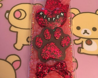 Cute Decoden Kitten Case for the iPhone 7/7s