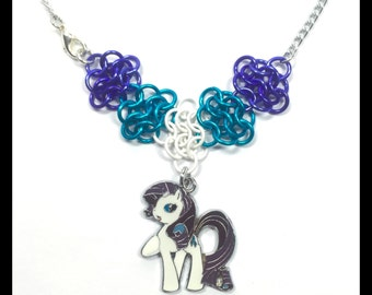 My Little Pony Rarity - Chainmaille Charm Necklace